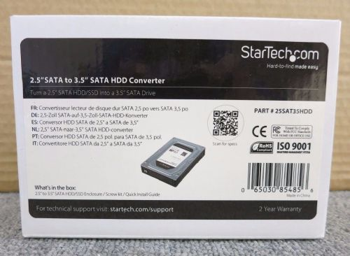 "StarTech 25SAT35HDD New 2.5"" to 3.5"" SATA Hard Drive Adapter Converter Enclosure"